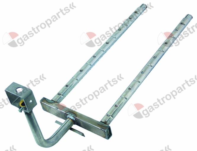 105.427, bar burner 2 row L 680mm W 240mm H 260mm salamander grill