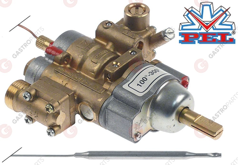106.027, regulator gazu z termostatem PEL 24STS 100-300°C temp. max 300°C