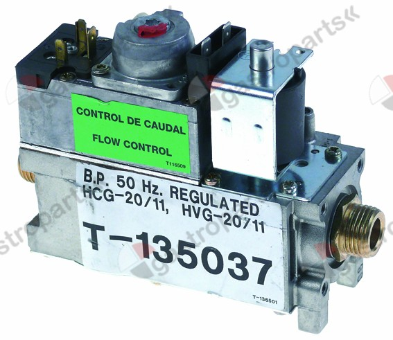 106.417, gas valve LPG 230 V 230 mV 50 Hz gas input 1