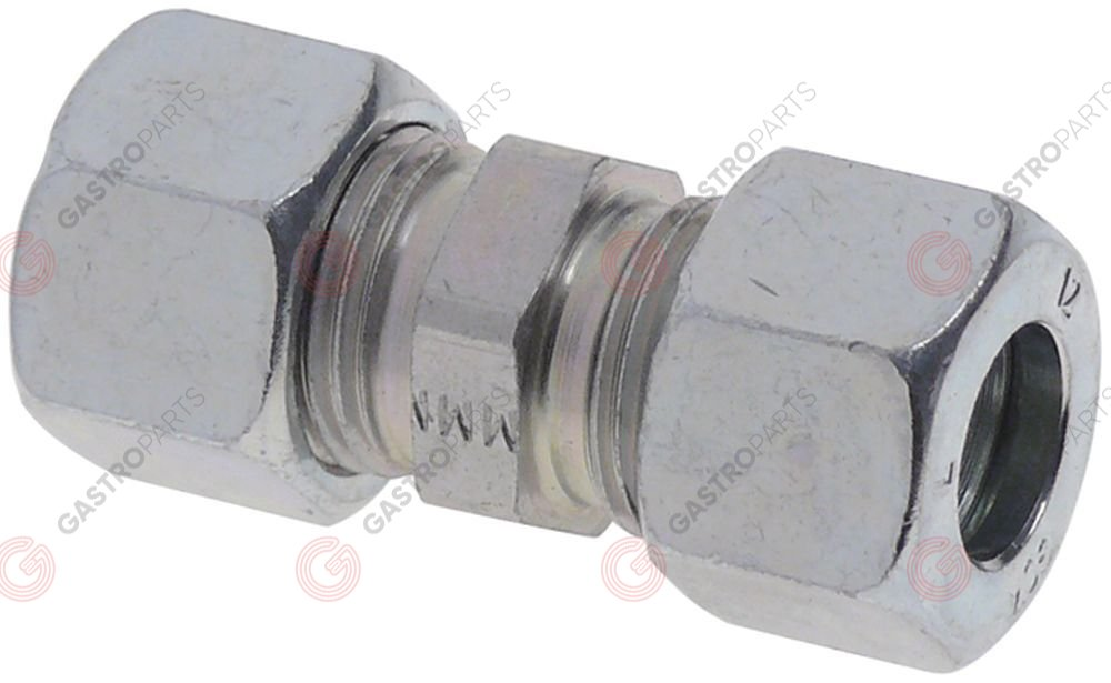 106.476, screw pipe fitting straight for pipe ø 12mm chrome-plated for steel tubes gas DIN 2353