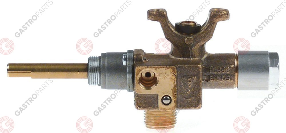 106.948, gas tap with ignition flame COPRECI type CPMM18700 gas inlet pipe flange ø21mm bypass nozzle ø 1,45mm