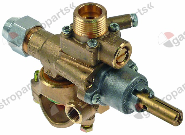 Gas tap pel type s v inlet pipe flange ø mm bypass