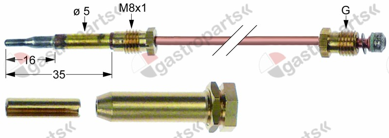 107.444, thermocouple set 3-piece L 330mm
