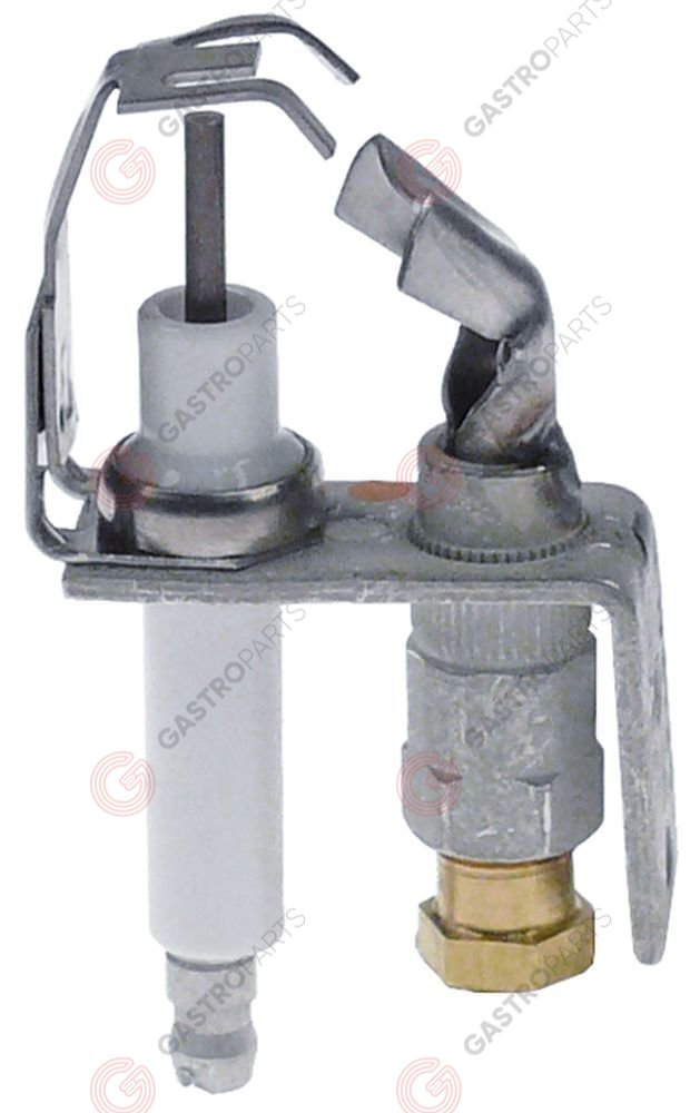 107.448, pilot burner HONEYWELL type Q345A 1313 2 flames natural/liquid gas nozzle BCR18/BBR10 1/4
