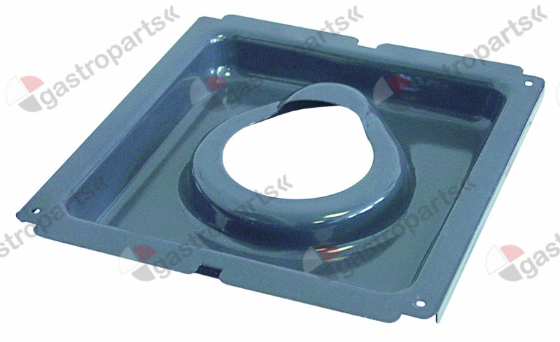 109.703, spillage tray L 340mm W 310mm H 38mm ø 115mm for burner cap ø 100mm