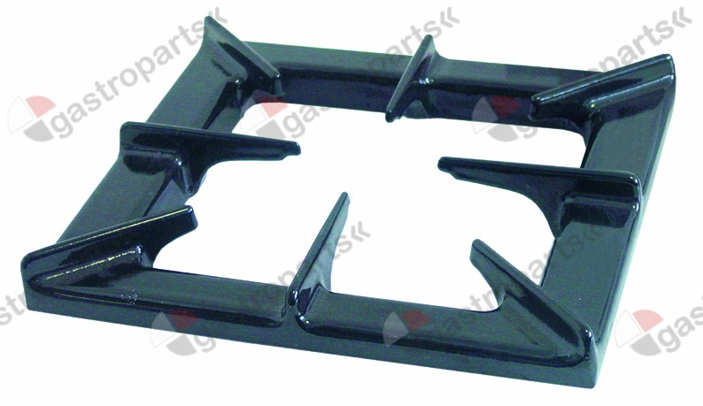 109.705, pan support W 310mm L 345mm H 50mm suitable for FAGOR black, varnished