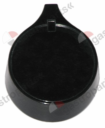 110.193, Replaced by 112303 / 112174 / knob without symbol ø 60mm shaft ø 10x8mmshaft flat upper black