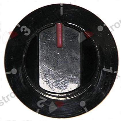 110.212, Replaced by 112173 / 112311 / 110552 / knob switch 7-position ø 64mm shaft ø 6x4.6mmshaft flat lower black
