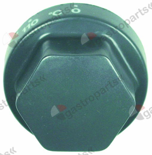 110.343, No longer available / knob thermostat t.max. 310°Ctemperature range 110-310°C ø 70mm shaft ø 6x4.6mm
