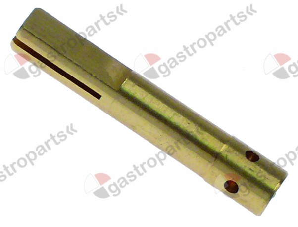 110.357, gas tap spindle shaft ø 8x6.5mm shaft L 36/12mm suitable for 630 Eurosit series