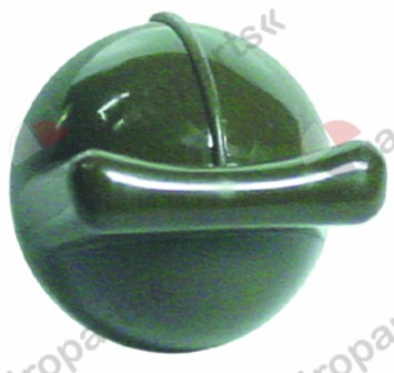 110.407, knob switch zero mark ø 40mm shaft ø 14mm shaft flat special green