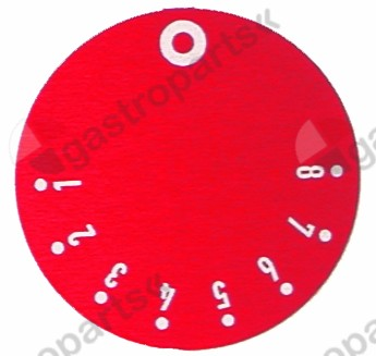 110.506, knob dial plate gas thermostat EGA 1-8 ED ø 45mm red