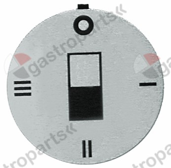 110.507, Knebel symbol switch 4-taktní AD o 45 mm stříbrná