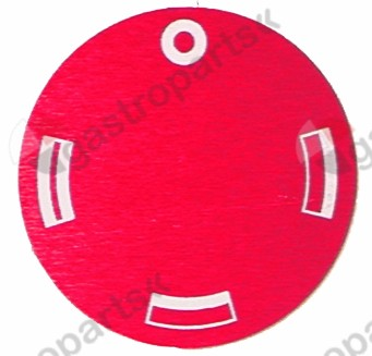 110.512, knob dial plate oven TH/BH/TH+BH ED ø 45mm turn direction anti clockwise red