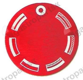 110.513, knob dial plate oven ED ø 45mm red
