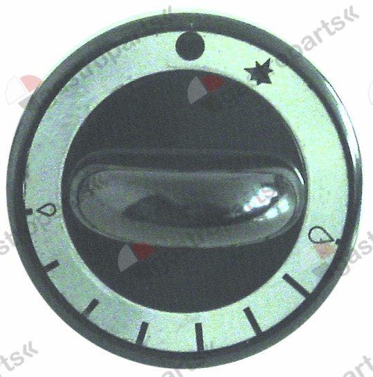 110.688, Knebel plyn termostat o 62 mm nápravy o 8x6,5mm plochý top black