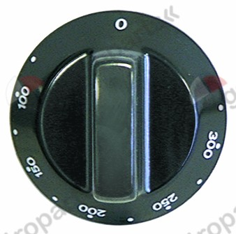 110.713, knob thermostat t.max. 310°C temperature range 100-310°C ø 60mm shaft ø 6x4.6mm