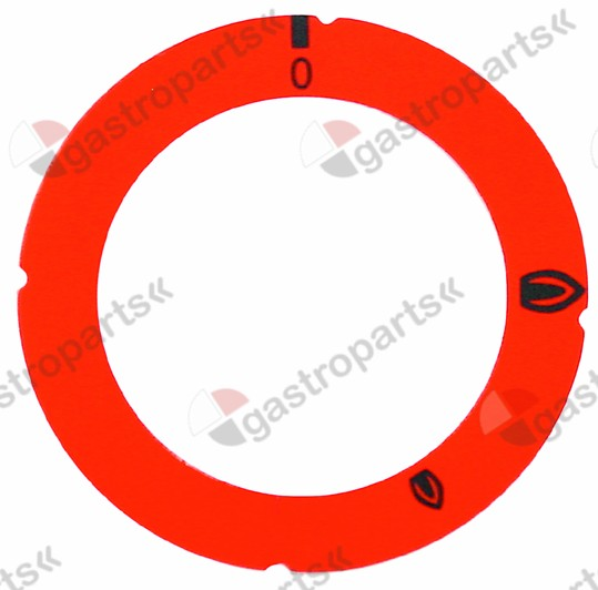 110.876, knob dial plate gas tap without ignition flame red