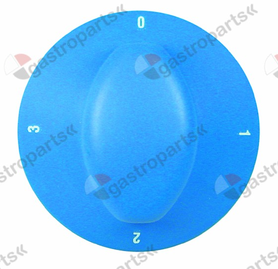 110.944, knob switch 4-position ø 70mm shaft ø 6x4.6mm shaft flat left blue