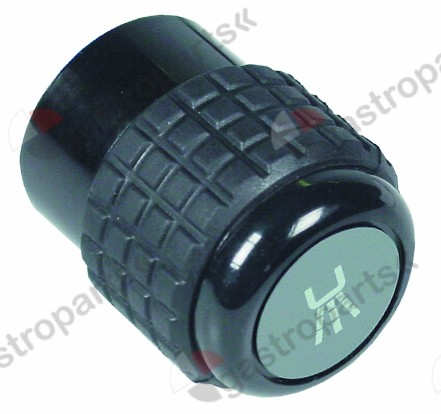 111.034, knob water ø 44mm black