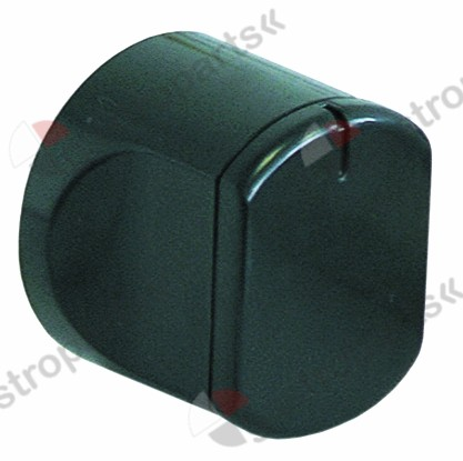 111.061, knob steam/water tap ø 45mm shaft ø 5x5mm shaft flat square black