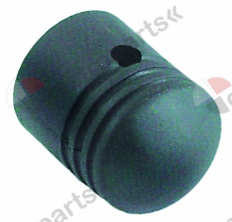 111.124, knob ø 39mm shaft ø 7x7mm shaft flat square black