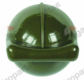 111.501, knob switch zero mark ø 40mm green shaft special
