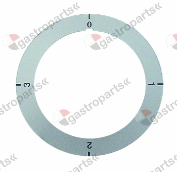 111.574, knob dial plate switch 4-position rotation 270° turn direction right ED ø 68mm ID ø 51mm grey