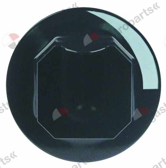 111.642, knob water cold ø 70mm shaft ø 10x8mm shaft flat upper black H 39mm