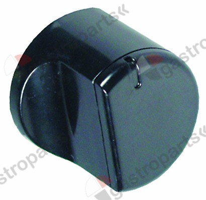 112.004, Replaced by 112291 / knob zero mark ø 45mm shaft ø 5x5mm black