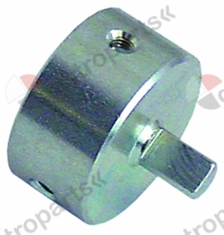 113.022, adapter shaft ø 8x6.4mm shaft L 13/13mm FAGOR suitable for 630 Eurosit series