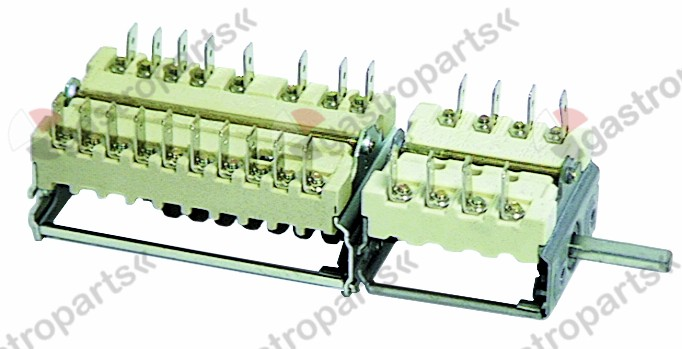 300.013, No longer available / operation switch changeover switchsequence 0-1-2-3 shaft ø ø6x4.6mm