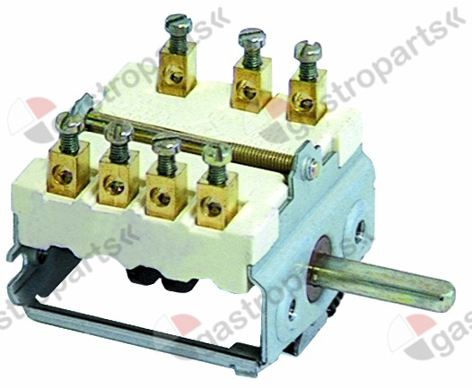 300.023, operation switch 4 operating positions 1NO/2CO sequence 0-1-2-3 16A shaft ø 6x4.6mm shaft L 23mm