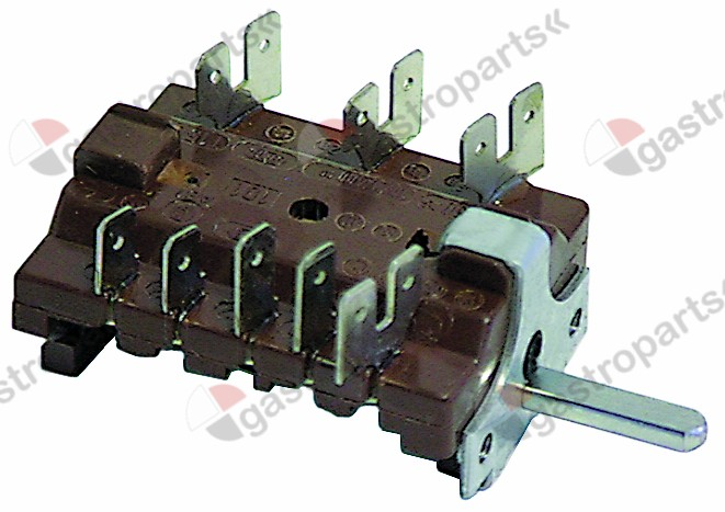 300.032, No longer available / operation switch 7-position 16A shaft ø 6x4.6mmconnection male faston 6.3mm