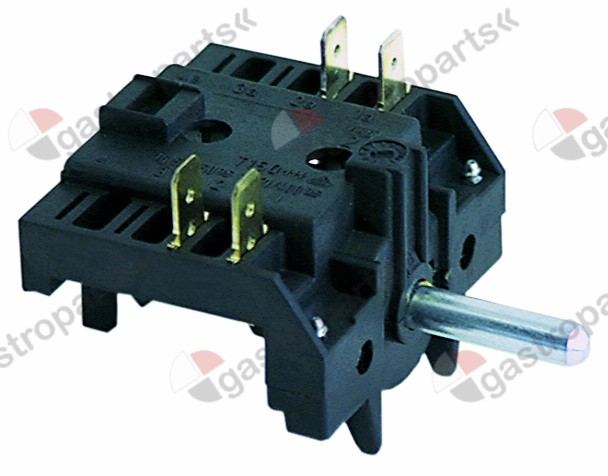300.036, operation switch 3 operating positions steaming manual sequence 0-1-2 shaft ø 6x4.6mm