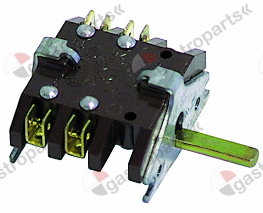 300.040, operation switch 2 operating positions operation switch sequence 0-1 16A shaft ø 6x4.6mm