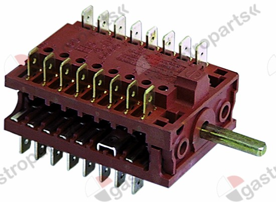 300.042, operation switch 3 operating positions speed/power sequence 1-2-3 shaft ø 6x4.6mm