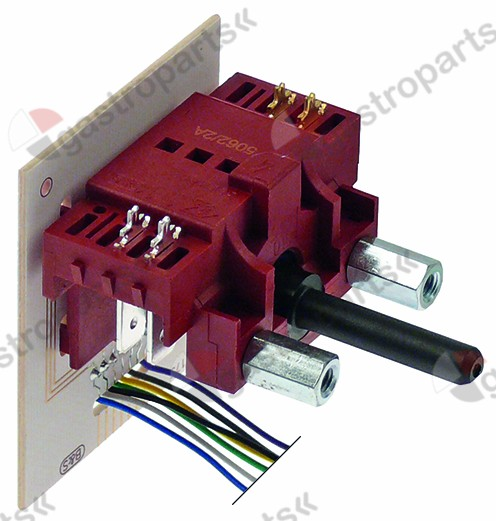 300.051, operation switch 6 operating positions 2NO sequence 1-0-2-3-4-5 6A shaft ø 6x4.6mm