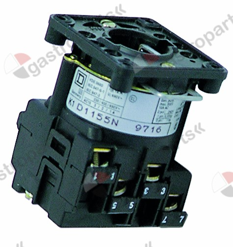 300.052, rotary switch 2 1-2 sets of contacts 4 type D1155N 400V 12A connection screw