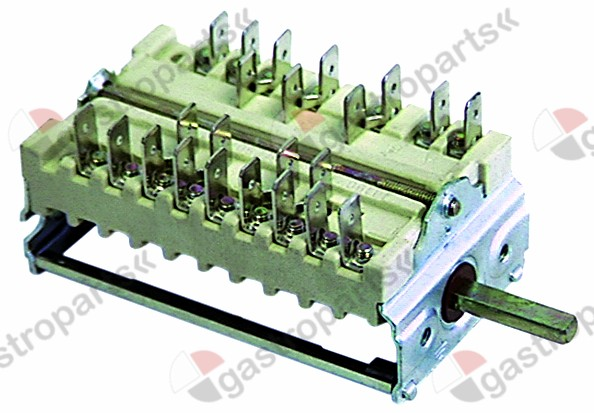 300.071, Replaced by 347191 / operation switch 5 operating positionsselector switch sequence 1-0-2-3-4 shaft ø 6x4.6mm