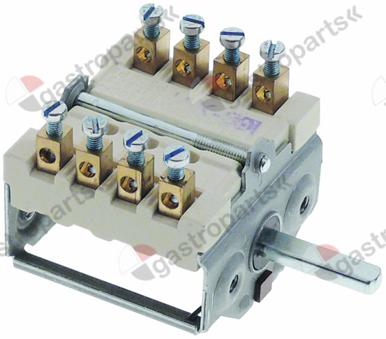 300.080, operation switch 2 operating positions operation switch sequence 0-1 16A shaft ø 6x4.6mm