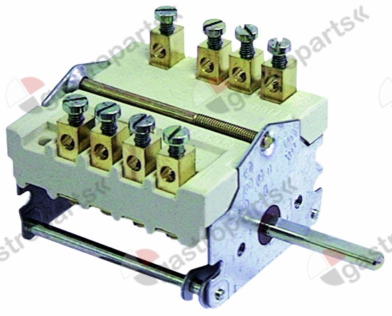 300.107, operation switch 2 operating positions operation switch sequence 0-1 32A shaft ø 6x4.6mm