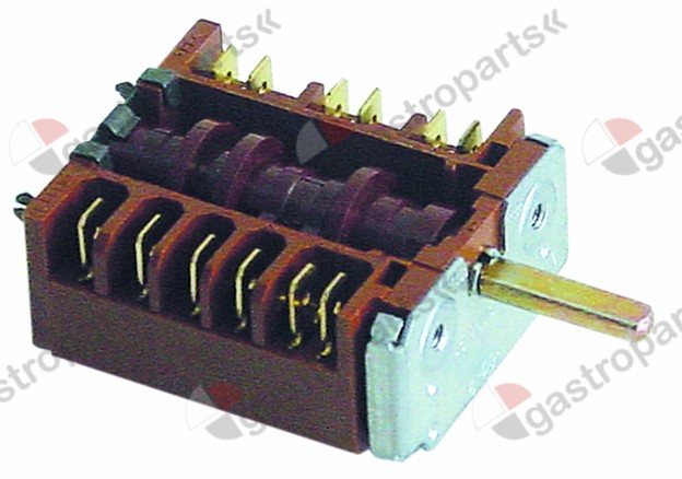 300.141, No longer available / operation switch 4 operating positionsoperation switch sequence 0-1-2-3 shaft ø 6x4.6mm
