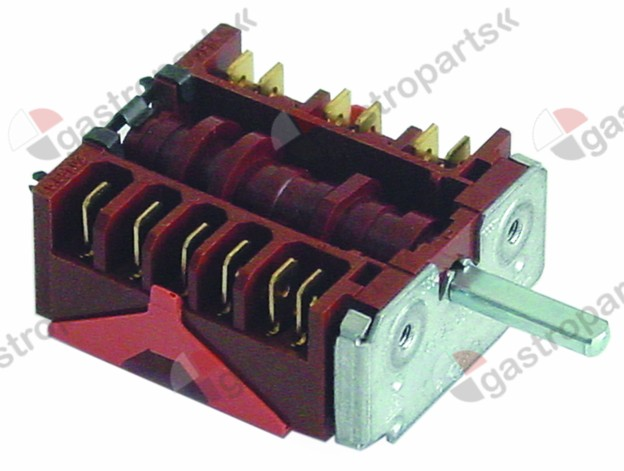 300.157, operation switch 4 operating positions operation switch sequence 0-1-2-3 shaft ø 6x4.6mm