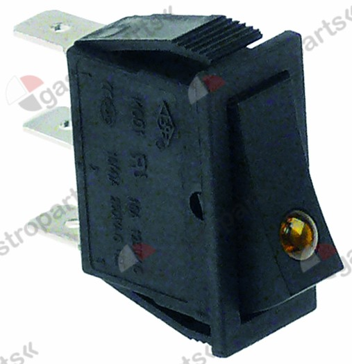 301.037, rocker switch mounting measurements 30x11mm orange 1NO/indicator light 250V 16A
