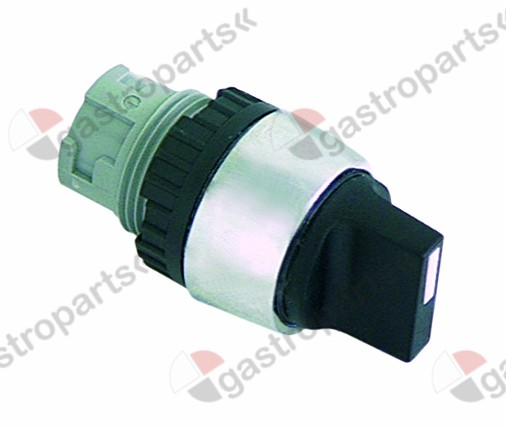 301.072, rotary selector ø 22mm black latching sequence 1-0-2