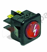 301.075, momentary rocker switch mounting measurements 27.8x25mm red 2NO 250V 16A