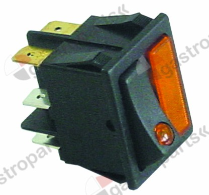 301.077, rocker switch 30x22mm orange/orange