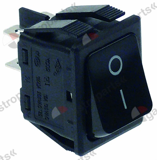 301.078, momentary rocker switch mounting measurements 30x22mm black 2NO 250V 16A