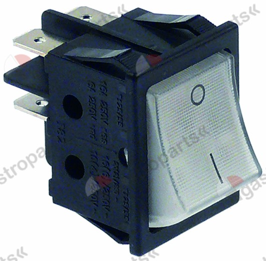 301.085, momentary rocker switch mounting measurements 30x22mm white 2NO 250V 16A